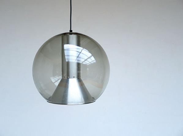 Raak Pendant Glass Globe 1970