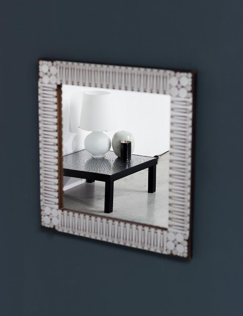 Raf Verjans modern decorative mirror circa 1970