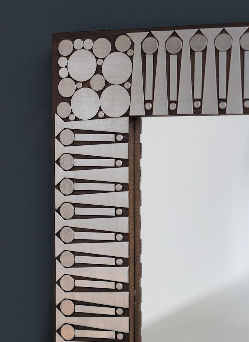 Raf Verjans modern decorative mirror circa 1970 img 3