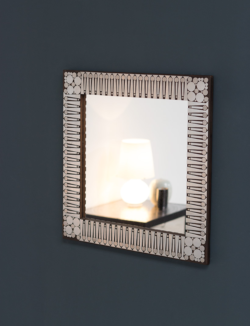 Raf Verjans modern decorative mirror circa 1970 img 6