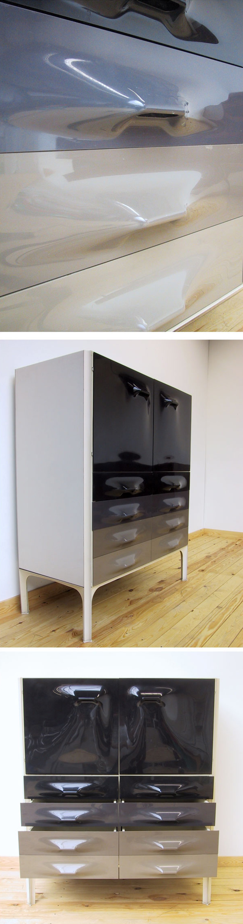 Raymond Loewy DF-2000 cabinet 1960 Modern Space Age Large