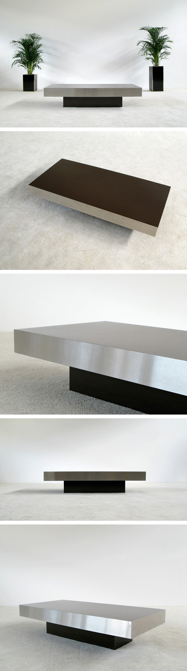 Rectangular Coffee table circa 1970 French Large