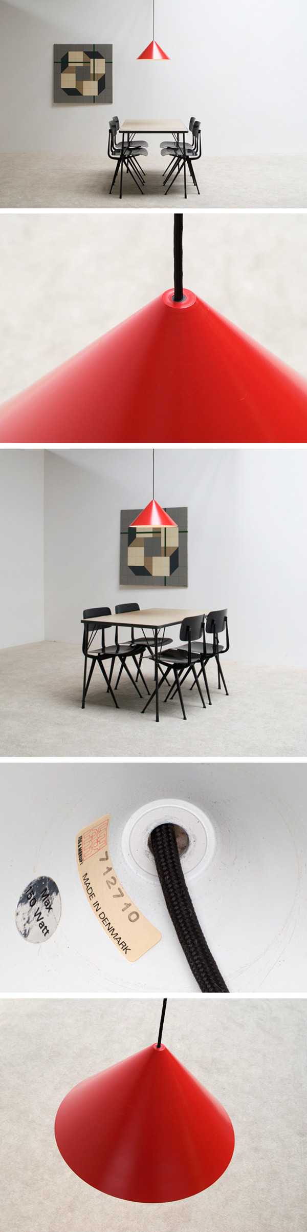 Red pendant ceiling lamp Fog and Morup Large