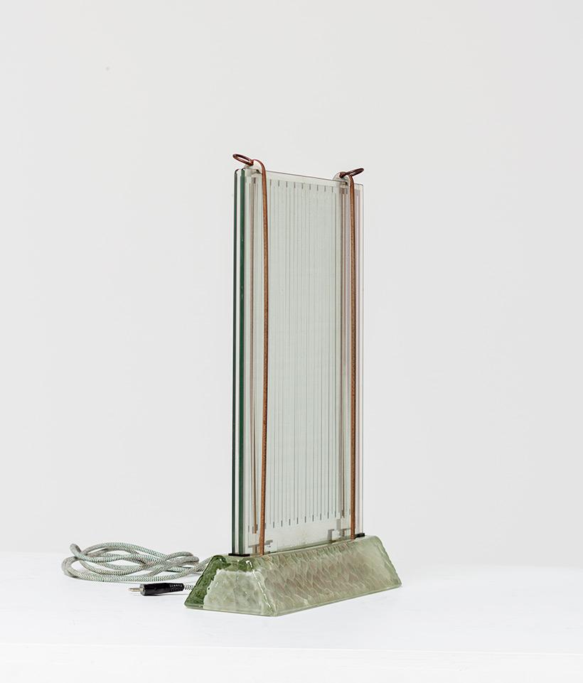 Rene Coulon glass radiator model Radiaver Saint Gobain 1937 Electropolis