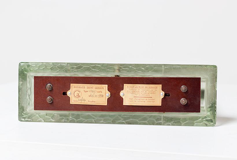 Rene Coulon glass radiator model Radiaver Saint Gobain 1937 Electropolis img 6