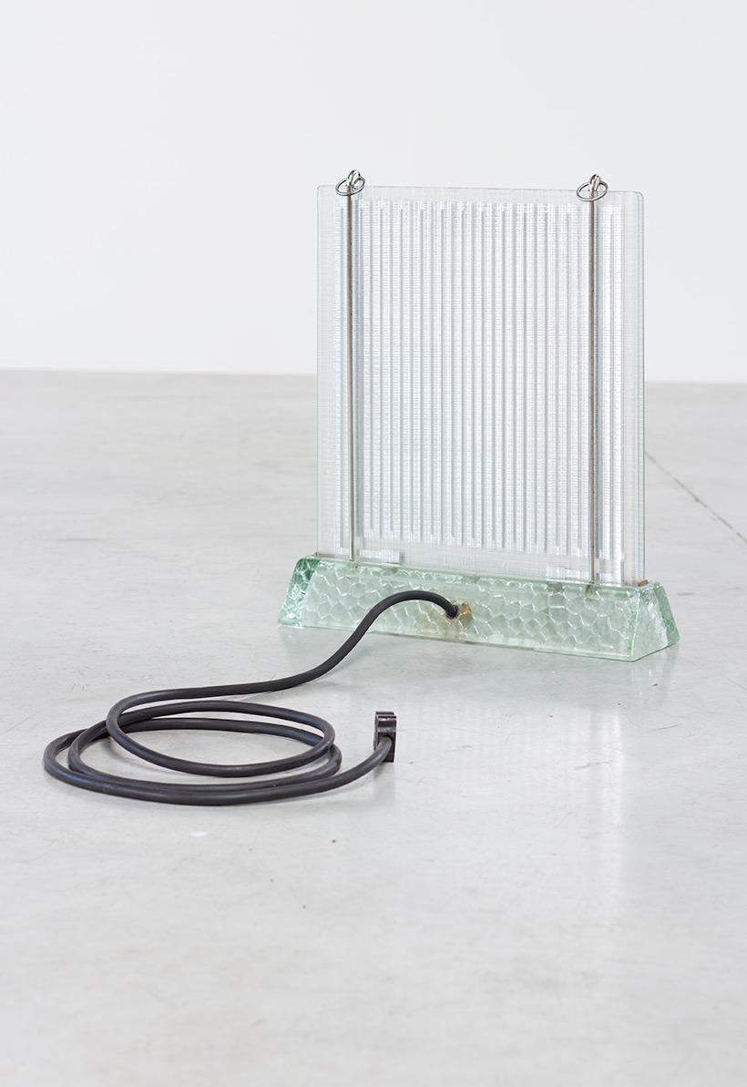 Rene Coulon glass radiator model Radiaver Saint Gobain 1937