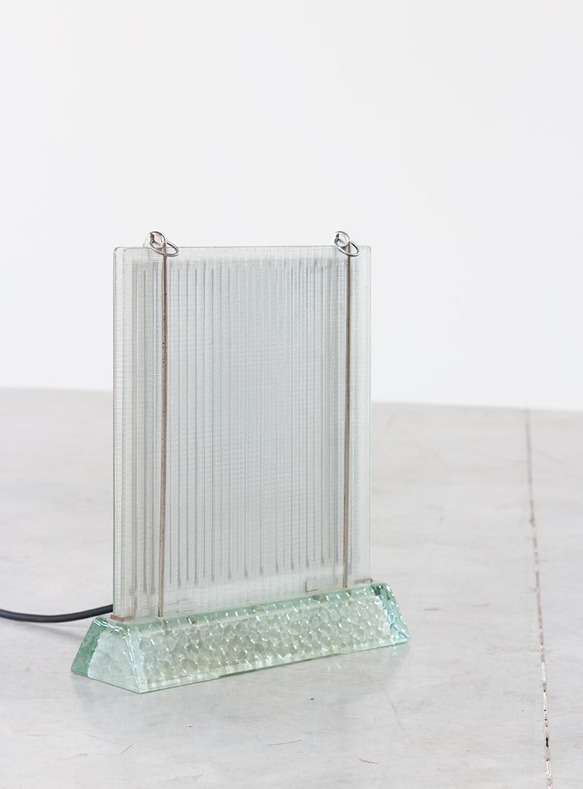 Rene Coulon glass radiator model Radiaver Saint Gobain 1937 Large