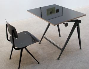 Reply Industrial drafting table and chair Wim Rietveld