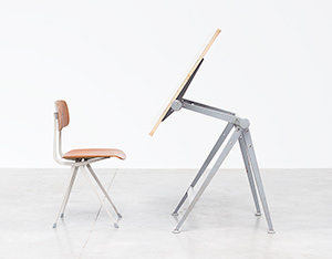 Rietveld Wim Reply drafting table and Friso Kramer Result chair