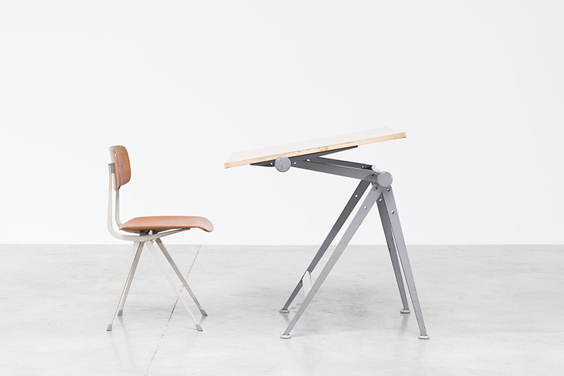 Rietveld Wim Reply drafting table and Friso Kramer Result chair img 3