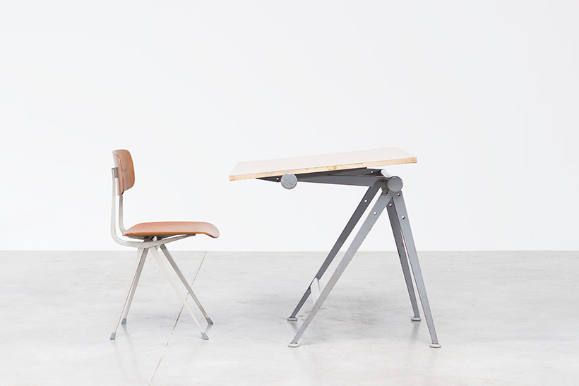 Rietveld Wim Reply drafting table and Friso Kramer Result chair img 4