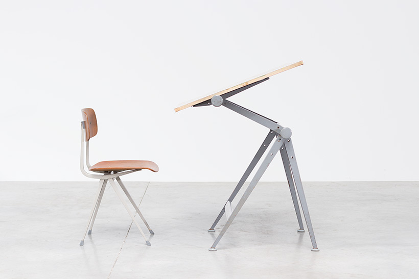 Rietveld Wim Reply drafting table and Friso Kramer Result chair img 5