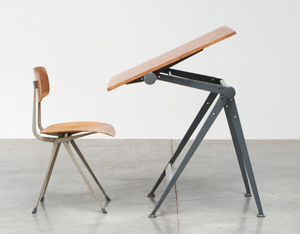 Rietveld Wim Reply drafting table and Kramer Friso Result chair