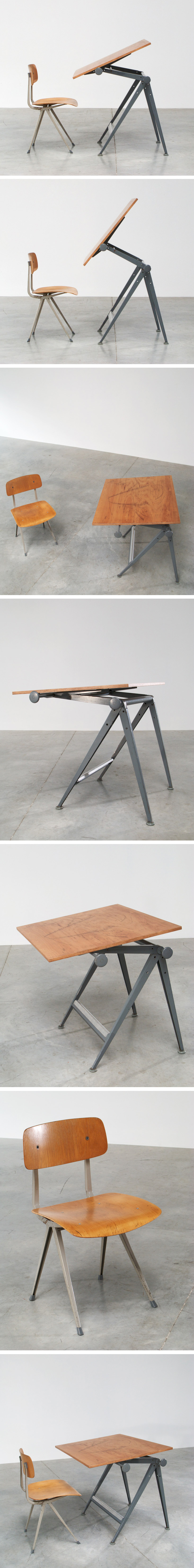 Rietveld Wim Reply drafting table and Kramer Friso Result chair Large