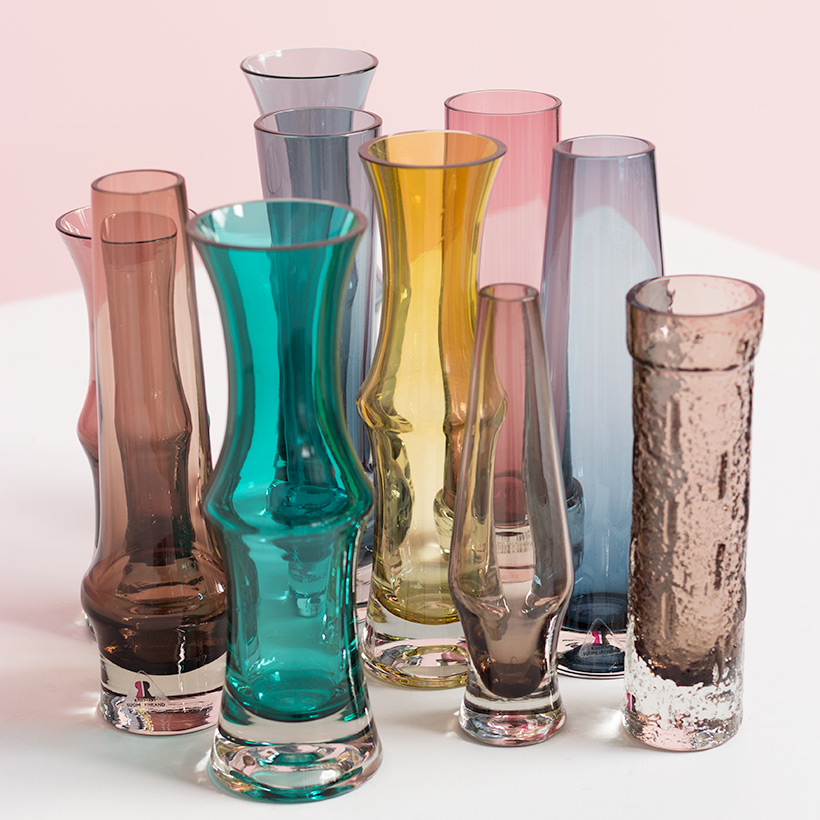 Riihimaki Lasi Oy decorative set of ten glass works by Tamara Aladin