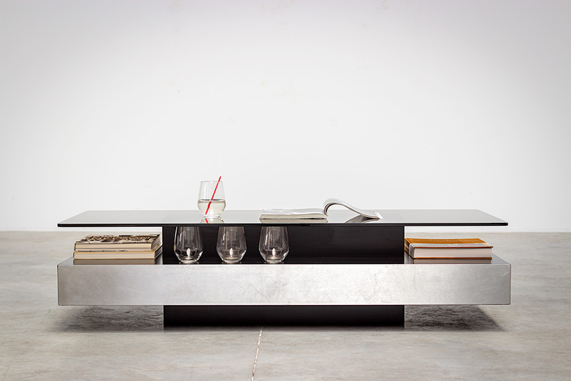 Roche Bobois two level coffee or cocktail table 1970