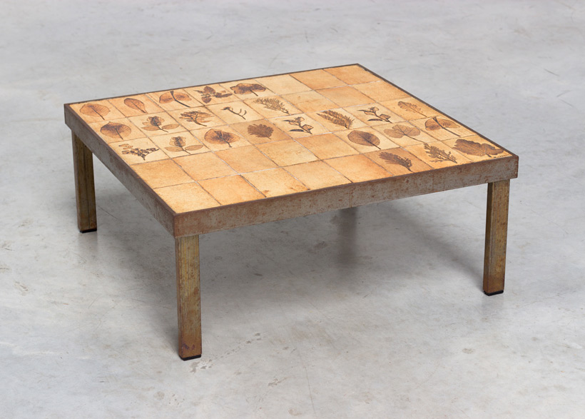 Roger Capron Garrigue cocktail coffee table Large