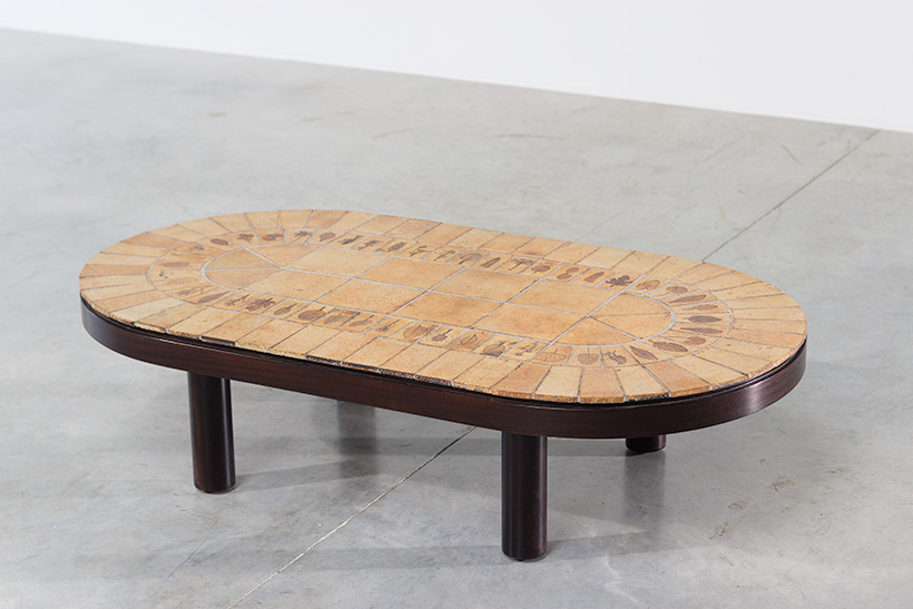 Roger Capron Garrigue oval low cocktail table img 3