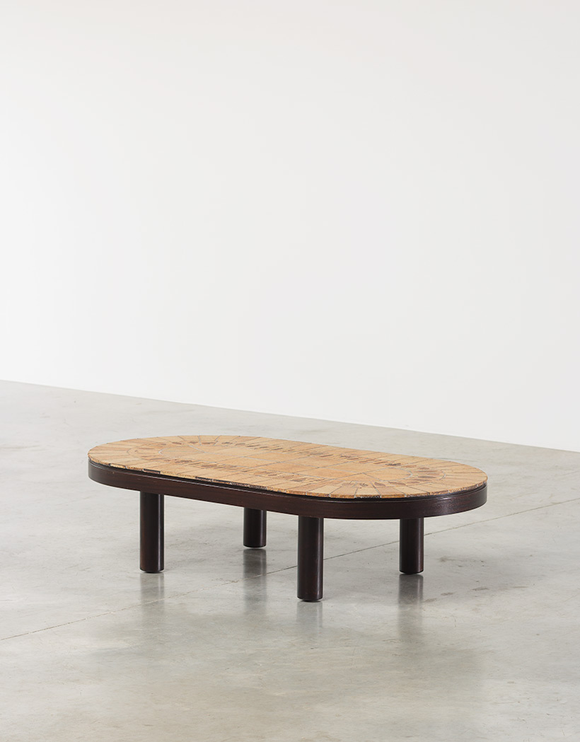 Roger Capron Garrigue oval low cocktail table img 5