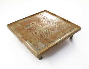 Roger Capron Square ceramic coffee table Vallauris