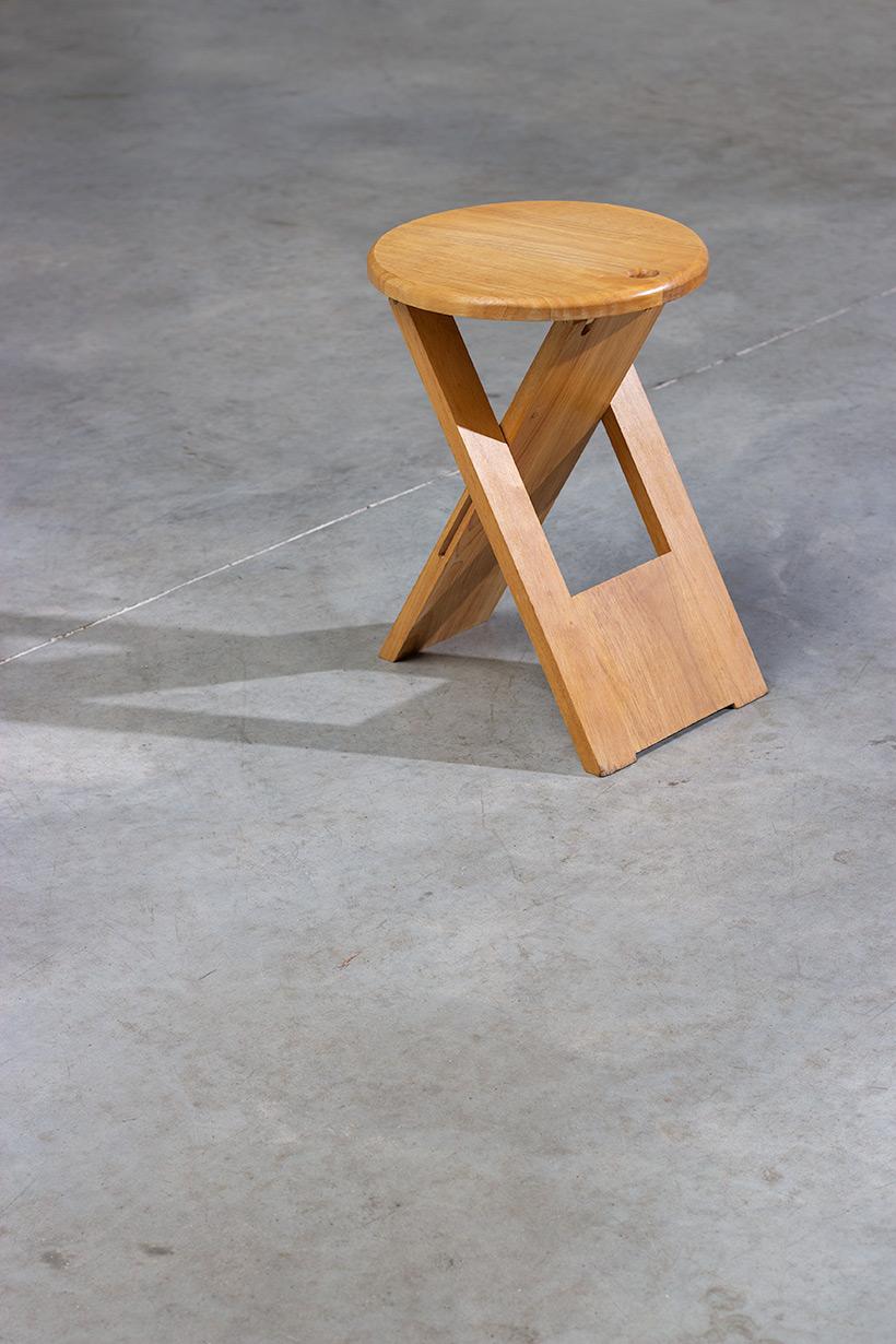 Roger Tallon TS foldable stool Sentou 1970 France img 5