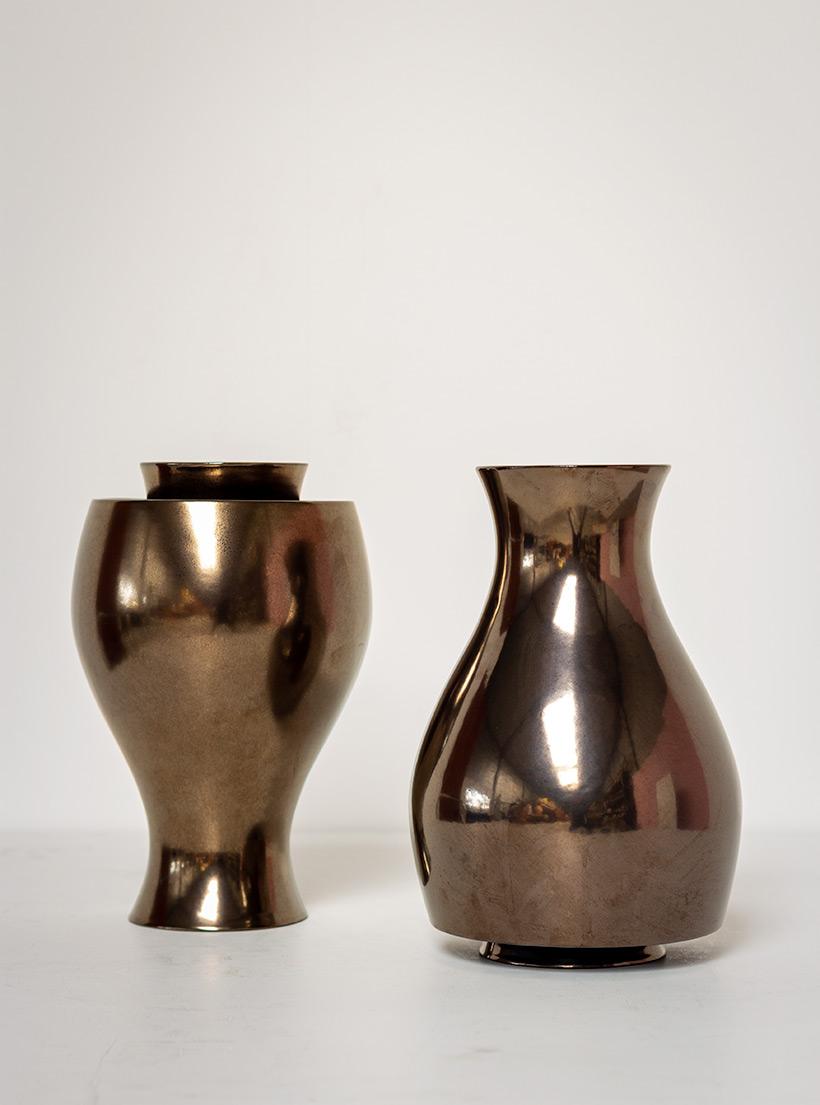 Ron Arad Pair of ceramic vases Jive for Cor Unum