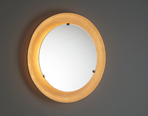 Round metal perforated mirror with backlight 1950
