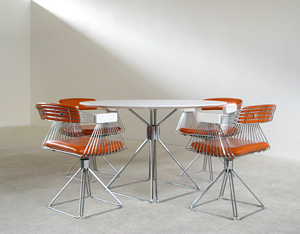 Rudi Verelst Dinning table and Chairs Novalux