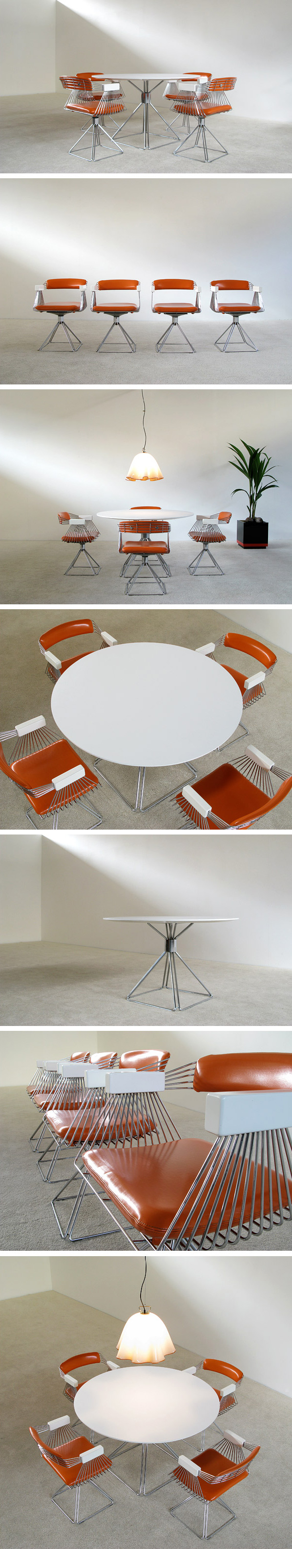 Rudi Verelst Dinning table and Chairs Novalux Large