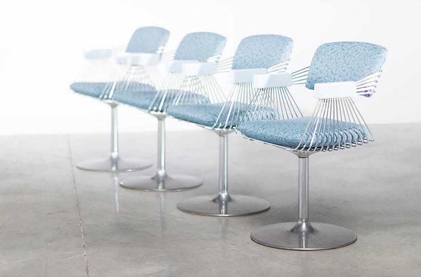 Rudi Verelst set of four dinning chairs Novalux 1974 img 10