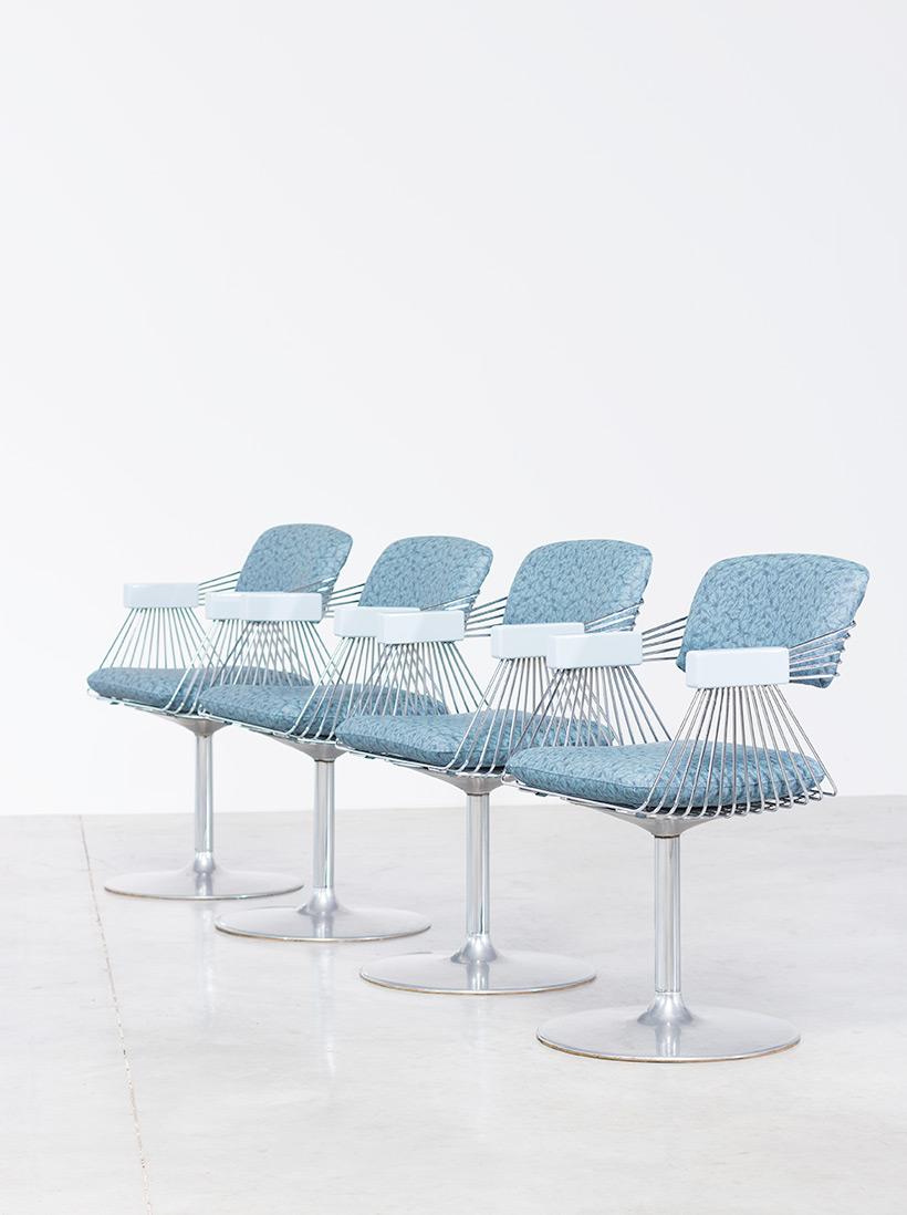 Rudi Verelst set of four dinning chairs Novalux 1974