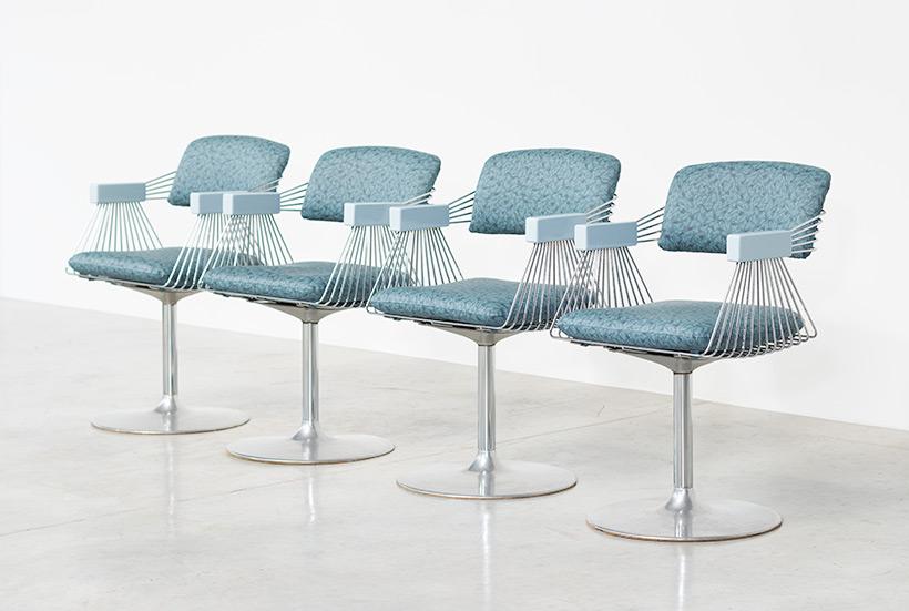 Rudi Verelst set of four dinning chairs Novalux 1974 img 3