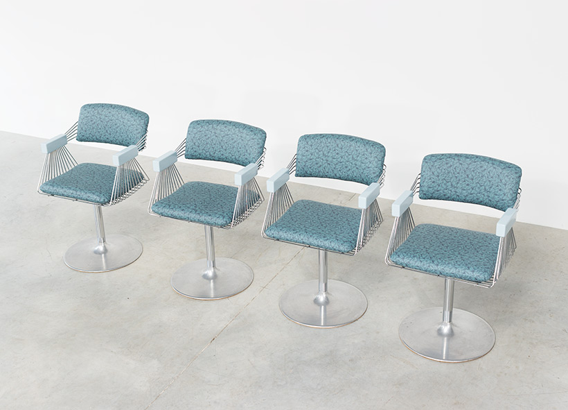 Rudi Verelst set of four dinning chairs Novalux 1974 img 5