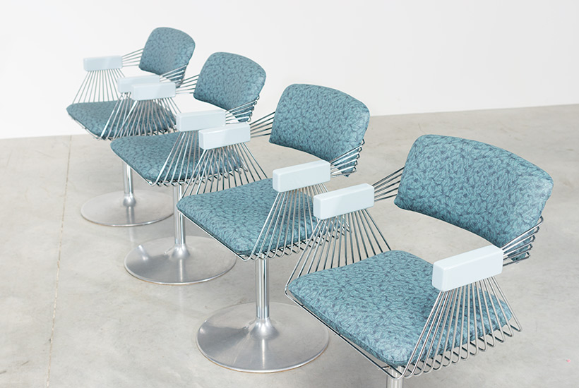 Rudi Verelst set of four dinning chairs Novalux 1974 img 6