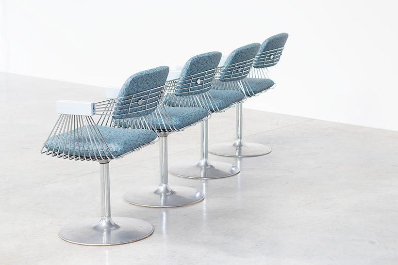 Rudi Verelst set of four dinning chairs Novalux 1974 img 8