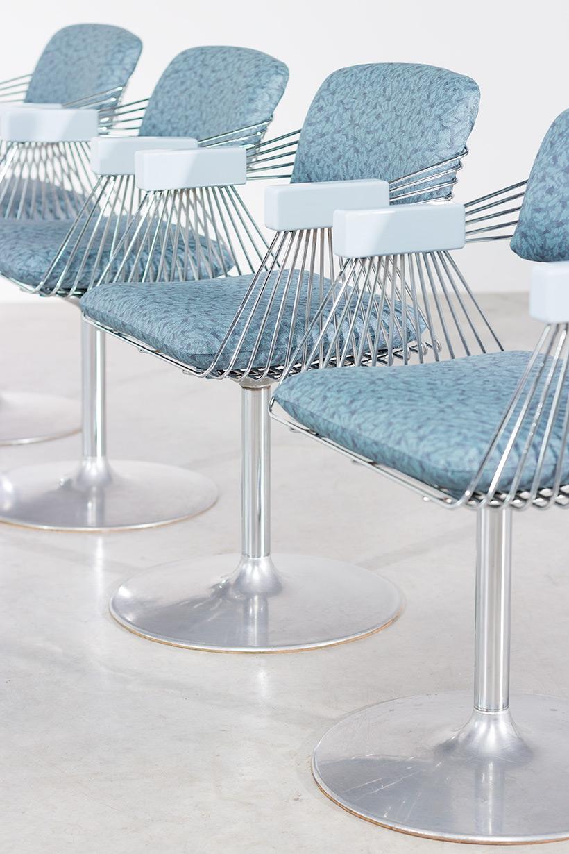 Rudi Verelst set of four dinning chairs Novalux 1974 img 9