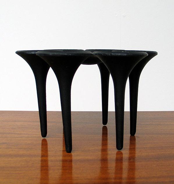Scandinavian Denmark cast iron candle holder