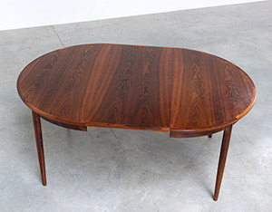 Scandinavian modernist dining table with Brazilian rosewood