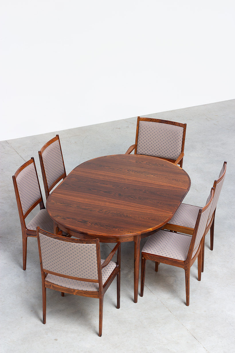 Scandinavian modernist dining table with Brazilian rosewood img 5