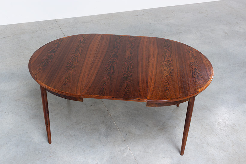 Scandinavian modernist dining table with Brazilian rosewood img 6