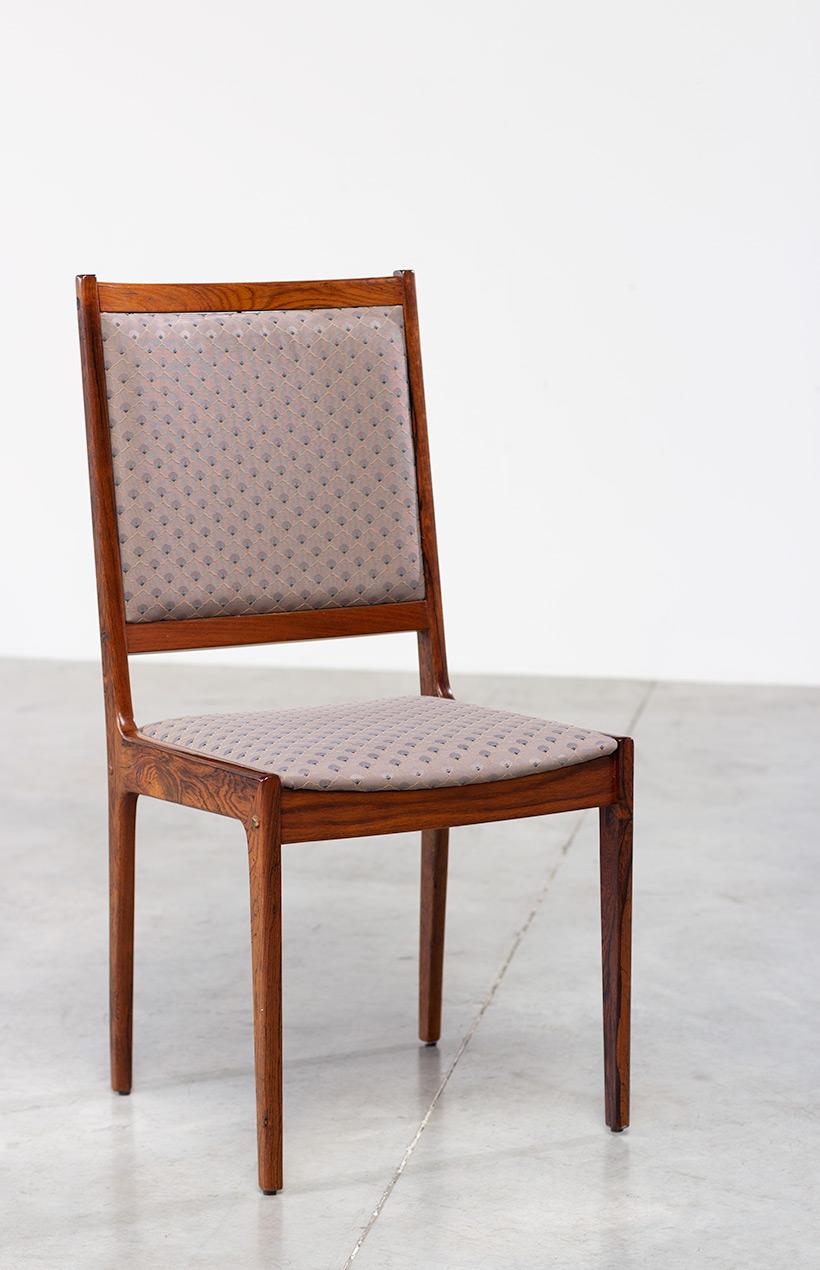 Scandinavian modernist rosewood set of six dining chairs Denmark 1960 img 8