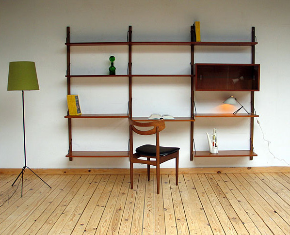 Scandinavian wall unit ROYAL SYSTEM Design Poul Cadovius