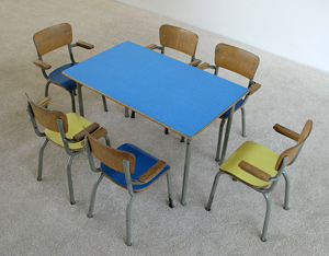 School table and 6 chairs for children Tubax