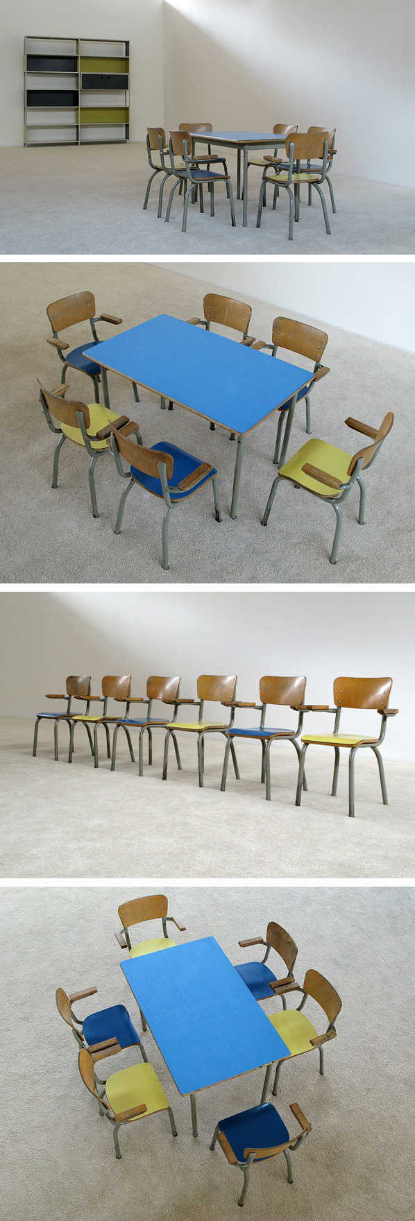 School table and 6 chairs for children Tubax Large