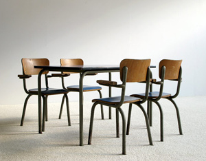 School table and chairs for children Tubax