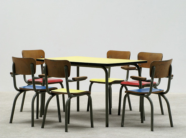 School table with 6 chairs for children Tubax
