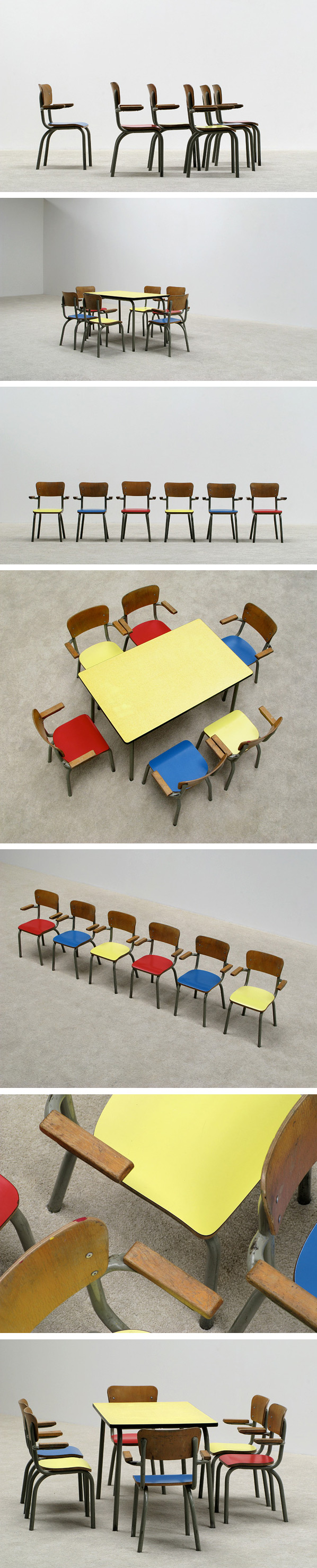 School table with 6 chairs for children Tubax Large