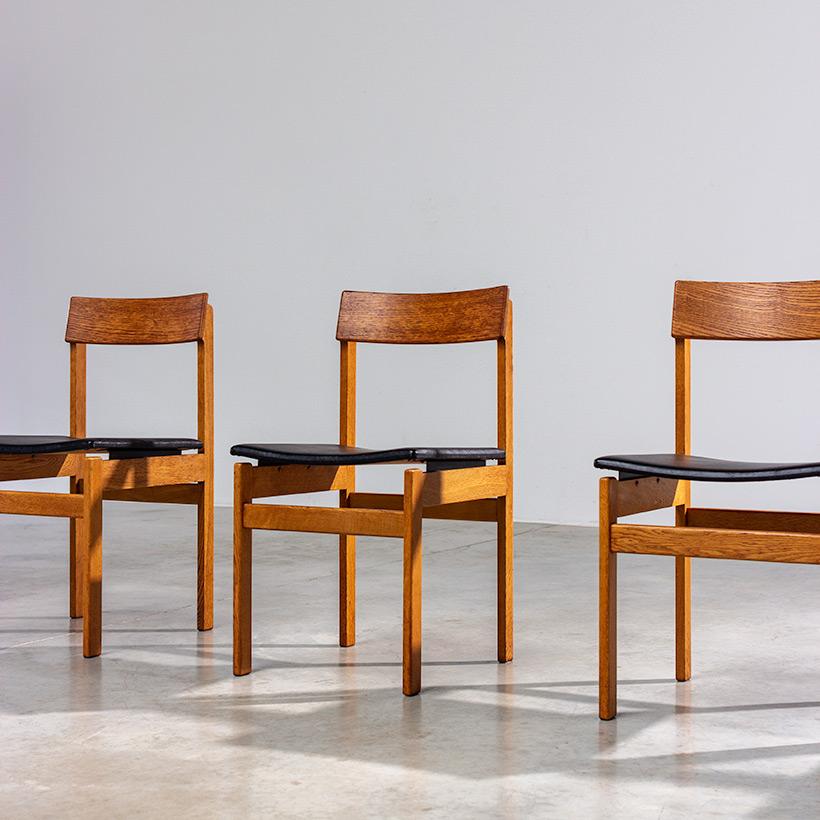 Set of six modernist dining chairs Van den Berghe-Pauvers Ghent Belgium 1960 img 4