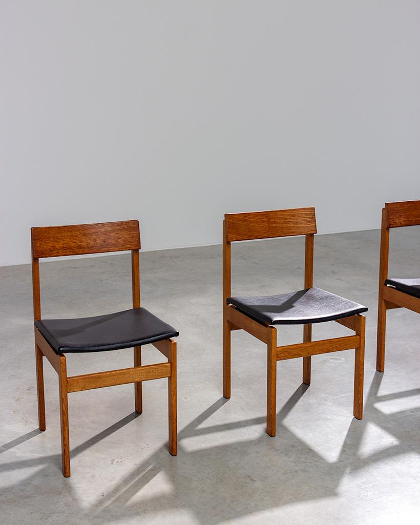 Set of six modernist dining chairs Van den Berghe-Pauvers Ghent Belgium 1960 img 5