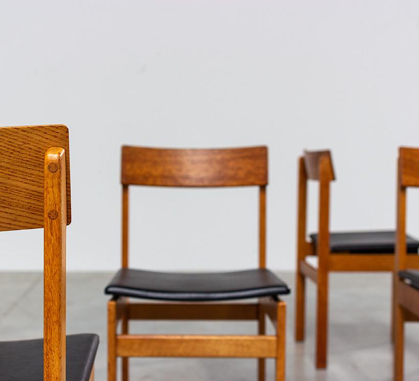 Set of six modernist dining chairs Van den Berghe-Pauvers Ghent Belgium 1960 img 9